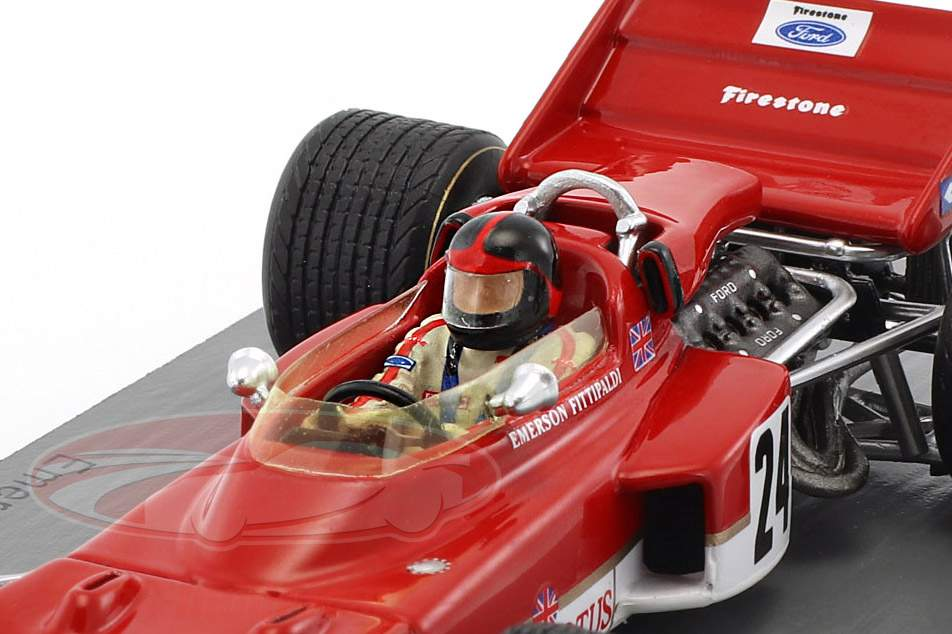 Emerson Fittipaldi Lotus 72C #24 gagnant USA GP formule 1 1970 1:43 Spark