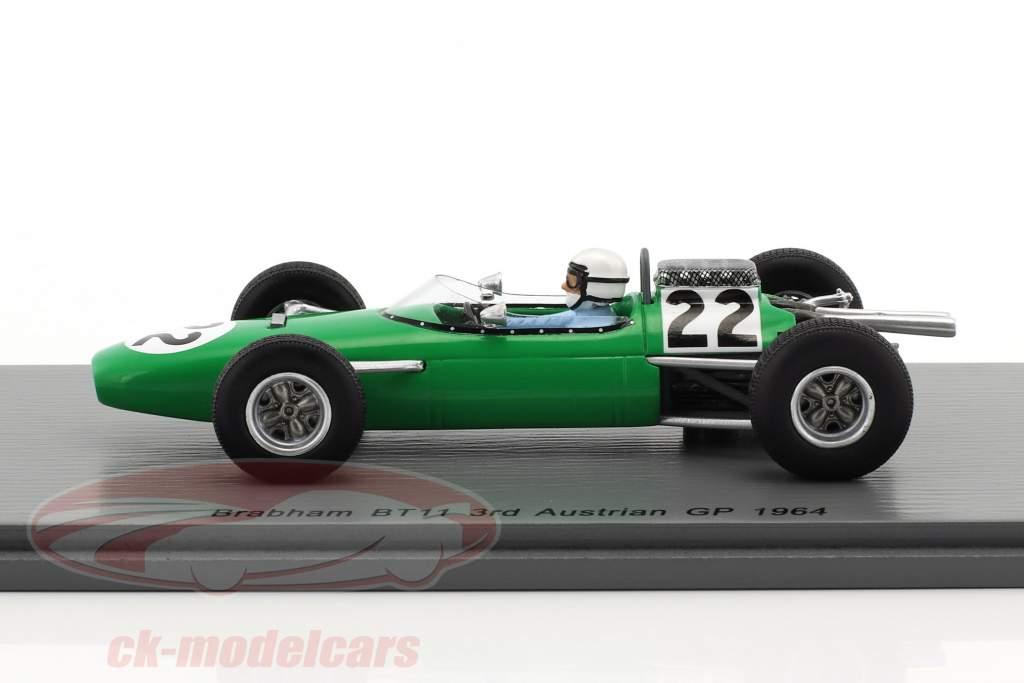 Bob Anderson Brabham BT11 #22 3e Oostenrijk GP formule 1 1964 1:43 Spark