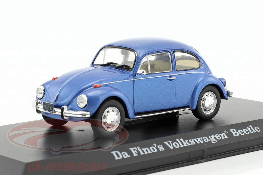 Da Fino's Volkswagen VW Beetle Movie The Big Lebowski 1998 blue metallic 1:43 Greenlight
