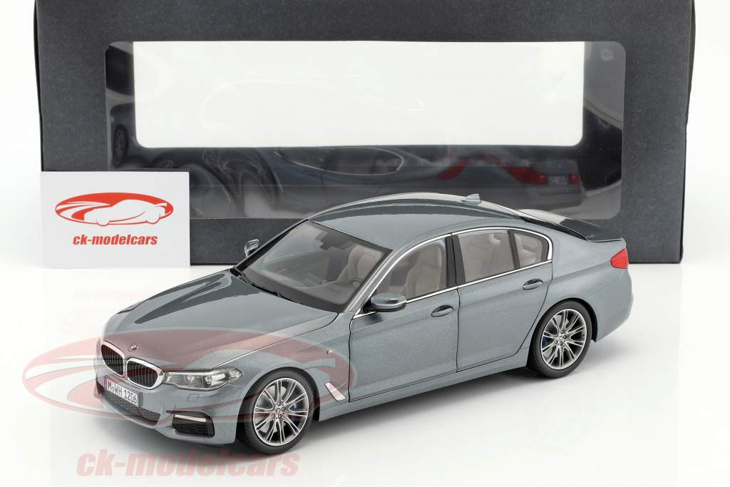 BMW 5 Series (G30) limousine year 2017 bluestone metallic 1:18 Kyosho