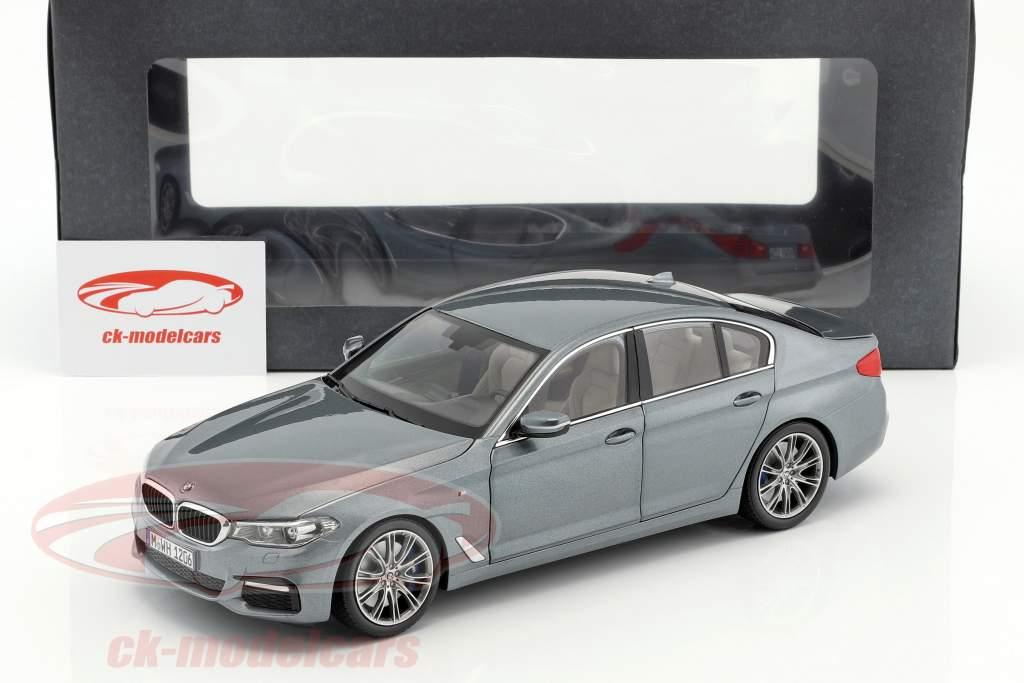 BMW 5 Series (G30) sedan Opførselsår 2017 Bluestone metallisk 1:18 Kyosho