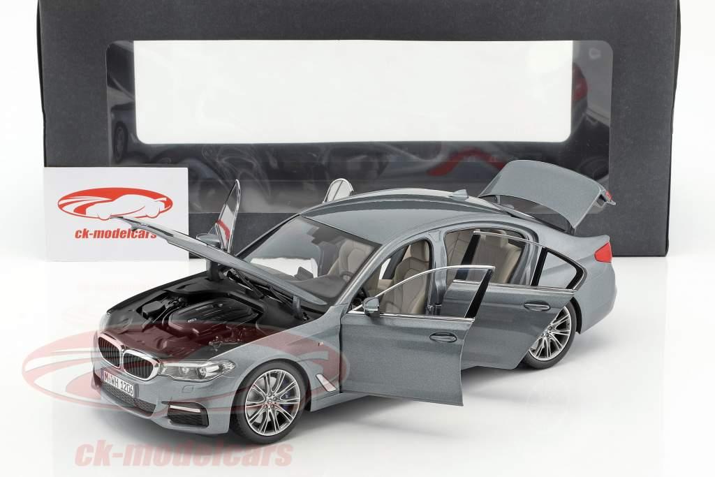 BMW 5 Series (G30) berline année de construction 2017 Bluestone métallique 1:18 Kyosho