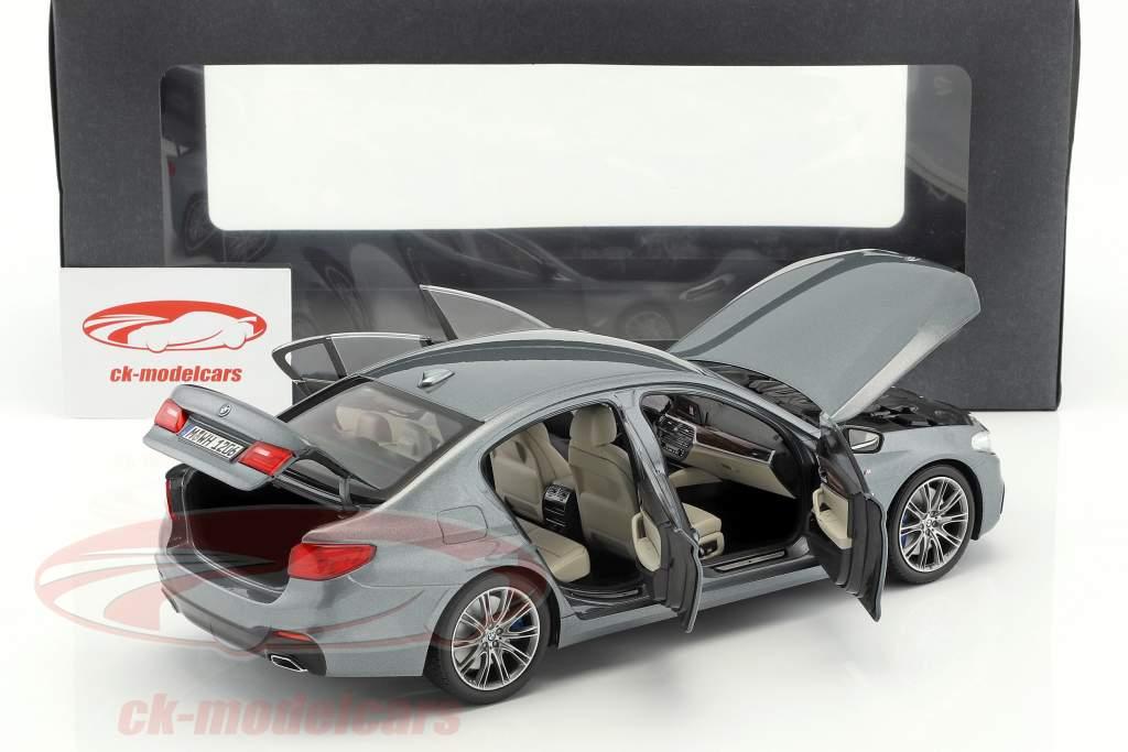 BMW 5 Series (G30) sedán año de construcción 2017 sulfato de cobre metálico 1:18 Kyosho