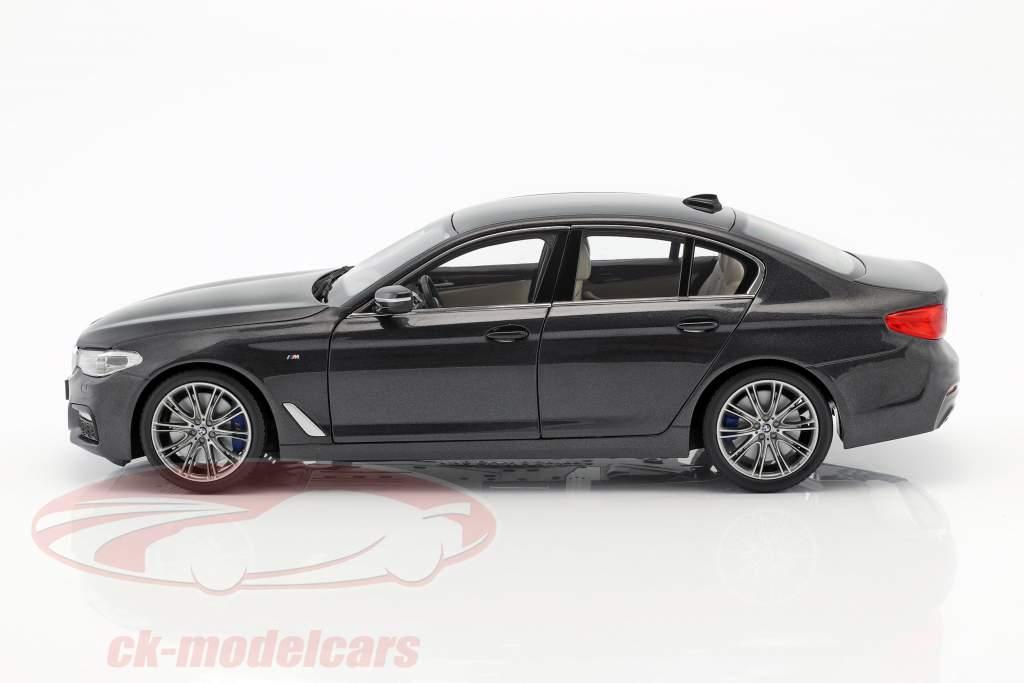 BMW 5 Series (G30) sedan Bouwjaar 2017 sophisto grijs 1:18 Kyosho