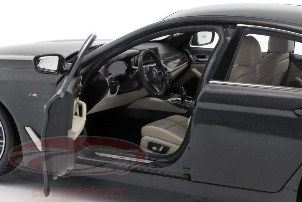 BMW 5 Series (G30) sedan ano de construção 2017 sophisto cinza 1:18 Kyosho
