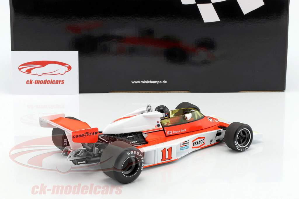 James Hunt McLaren M23 #11 campeão do mundo fórmula 1 1976 1:18 Minichamps