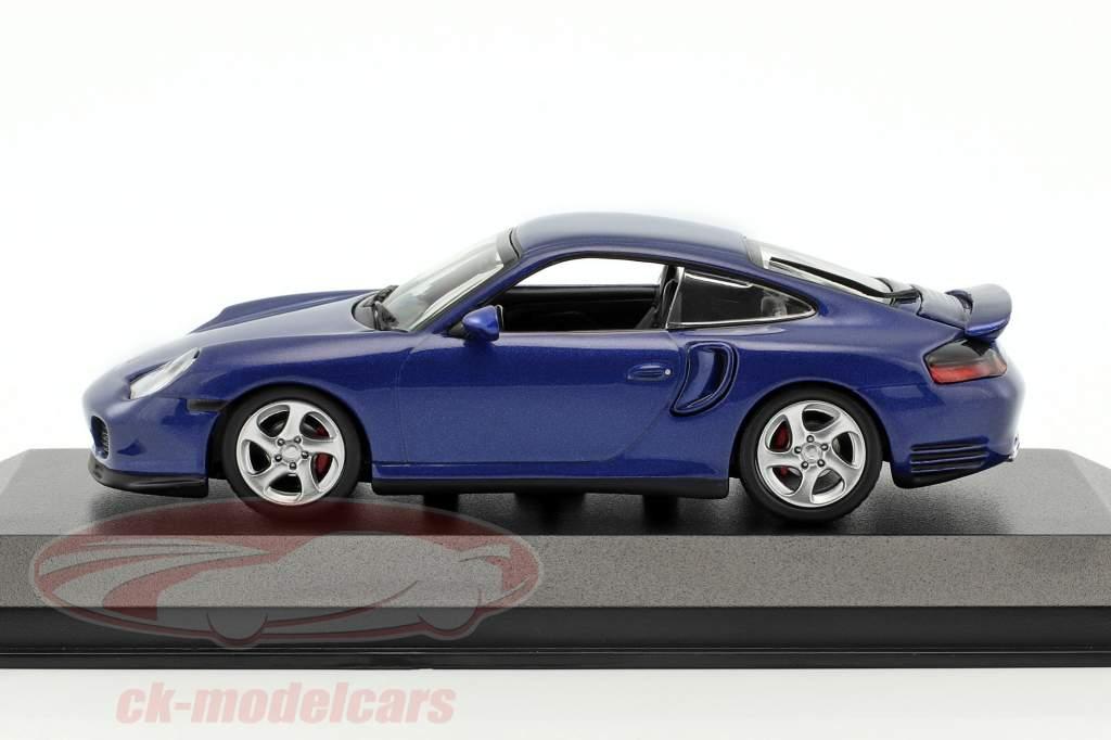 Porsche 911 (996) Turbo year 1999 blue metallic 1:43 Minichamps