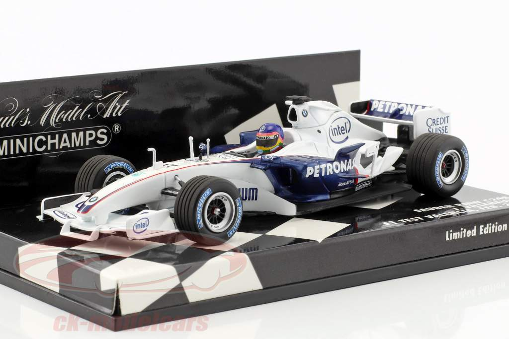Jacques Villeneuve Sauber BMW C24B #17 February test Valencia formula 1 2006 1:43 Minichamps