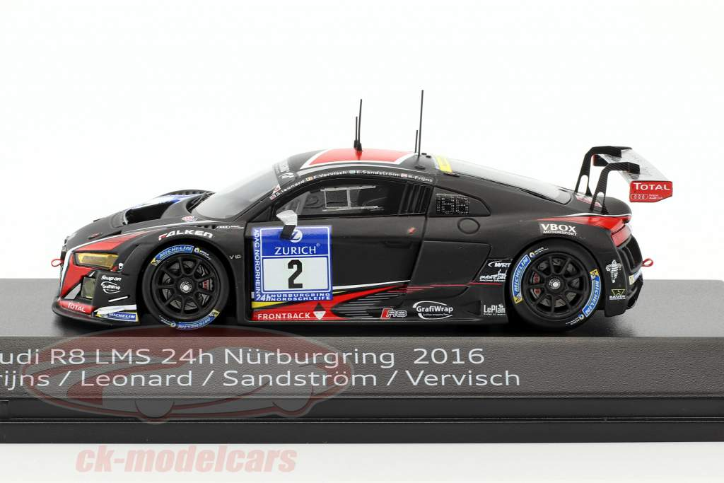 Audi R8 LMS #2 24h Nürburgring 2016 Frijns, Leonard, Sandström, Vervisch 1:43 Spark