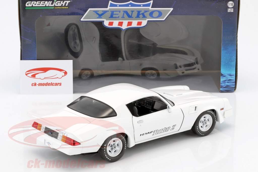 Chevrolet Z28 Yenko Turbo Z year 1981 white 1:18 Greenlight