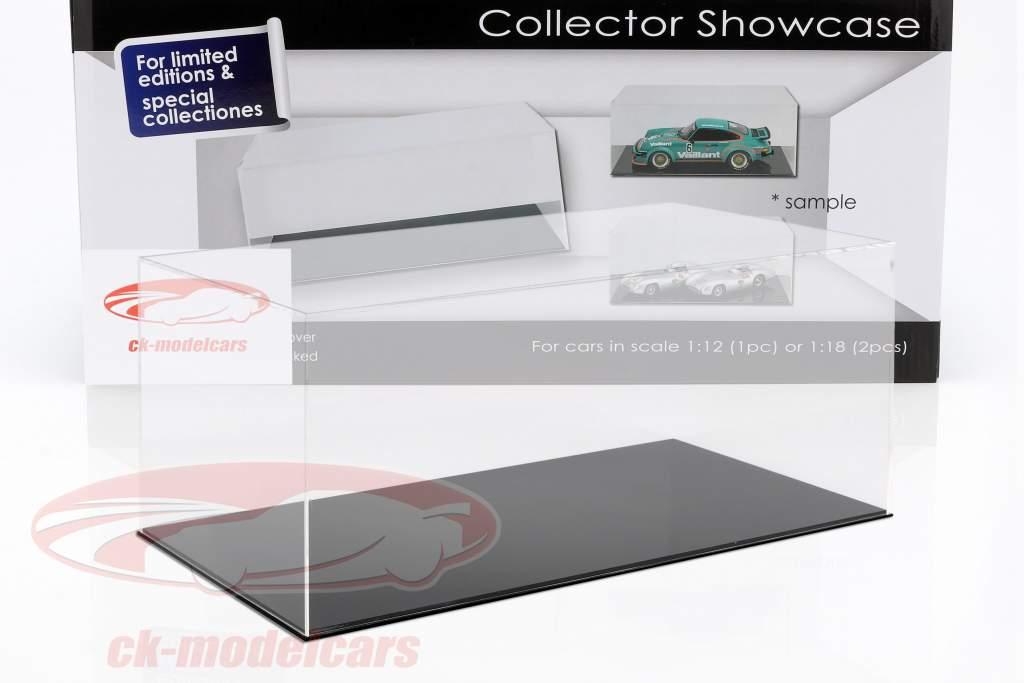 alto calidad escaparate para 1 Modelcar en escala 1:12 o 2 modelcars en escala 1:18 negro SAFE