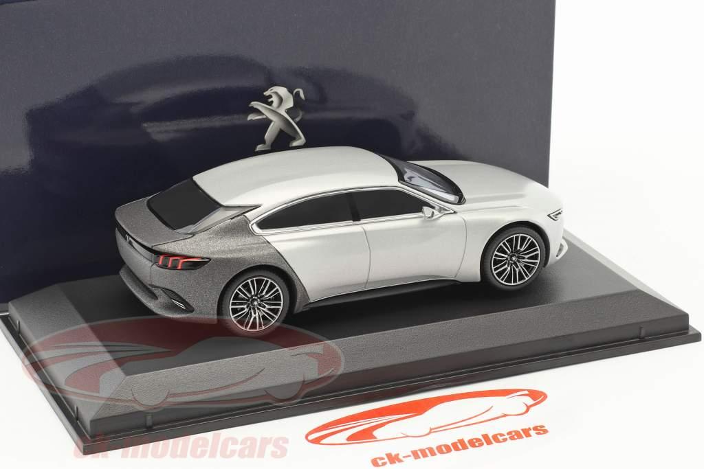 Peugeot Exalt concetto auto Salon de Paris 2014 argento / grigio 1:43 Norev