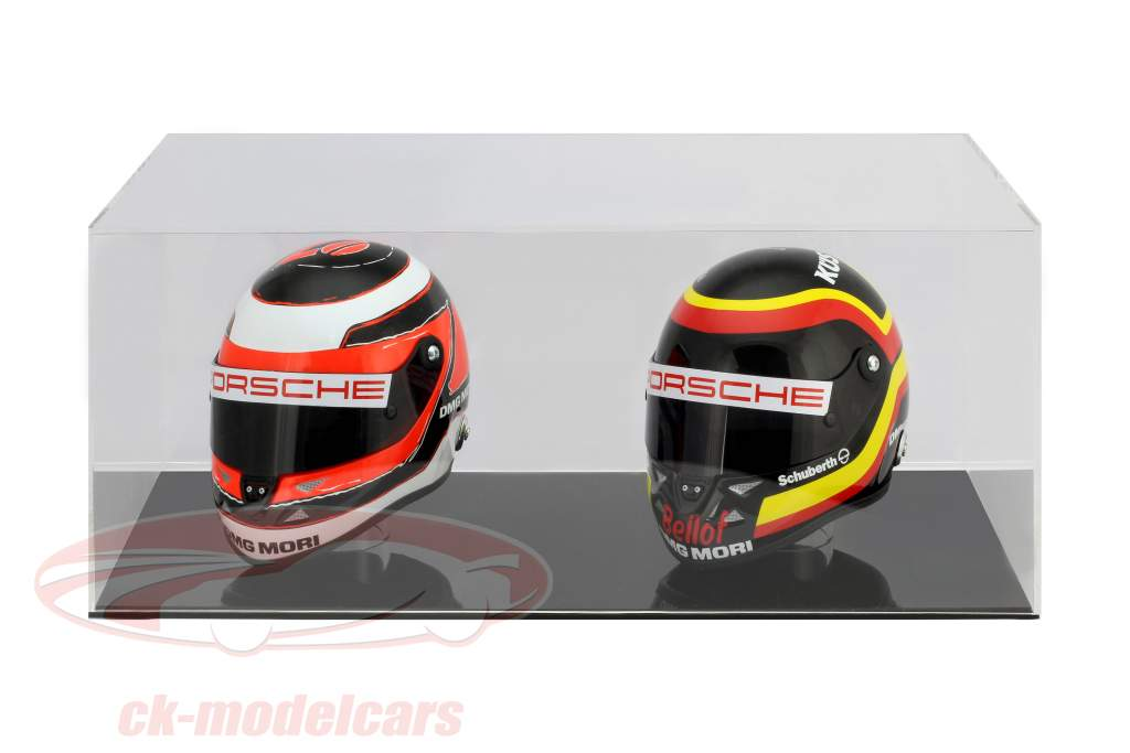 alto calidad escaparate para 2 cascos en escala 1:2 negro SAFE