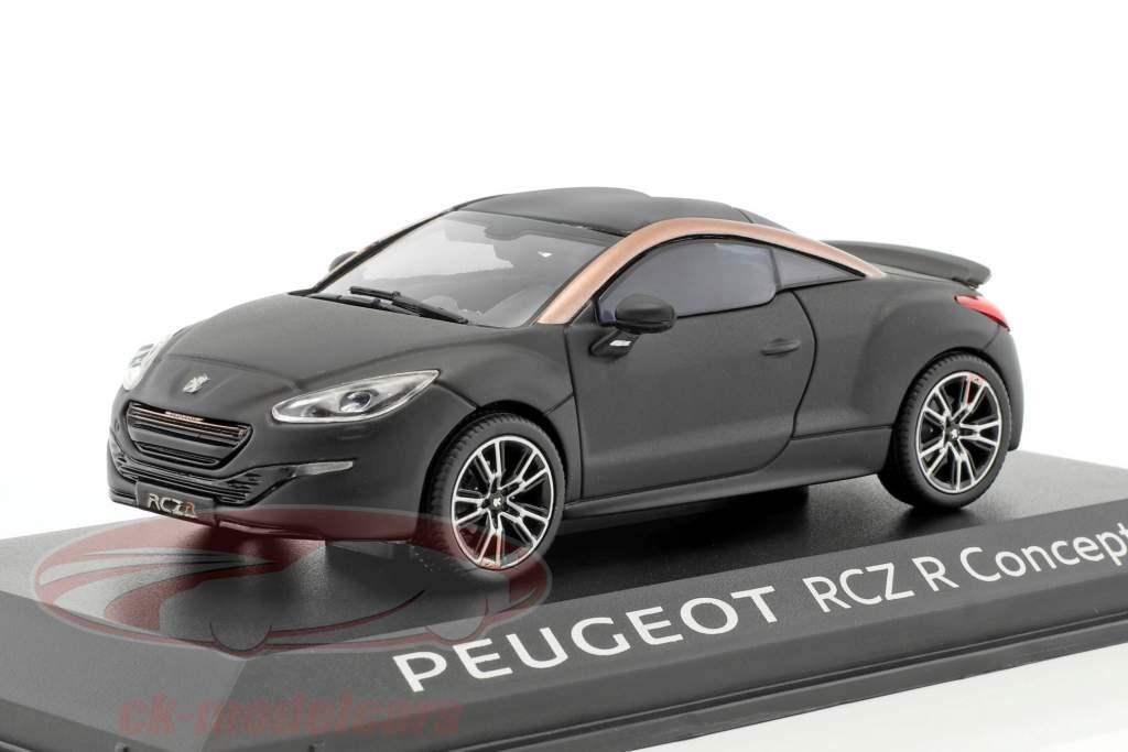 Peugeot RCZ R Concept Car year 2012 mat black 1:43 Norev