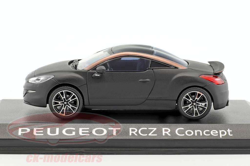 Peugeot RCZ R Concept Car Baujahr 2012 matt schwarz 1:43 Norev
