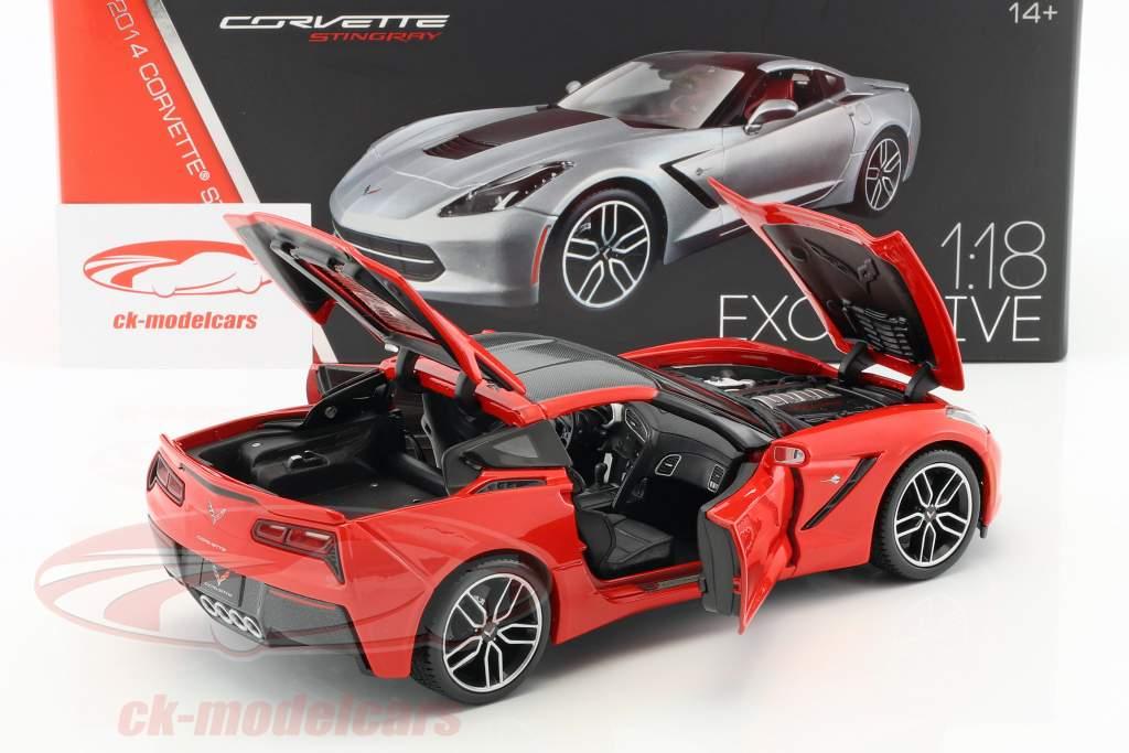 Chevrolet Corvette Stingray Z51 Baujahr 2014 rot 1:18 Maisto