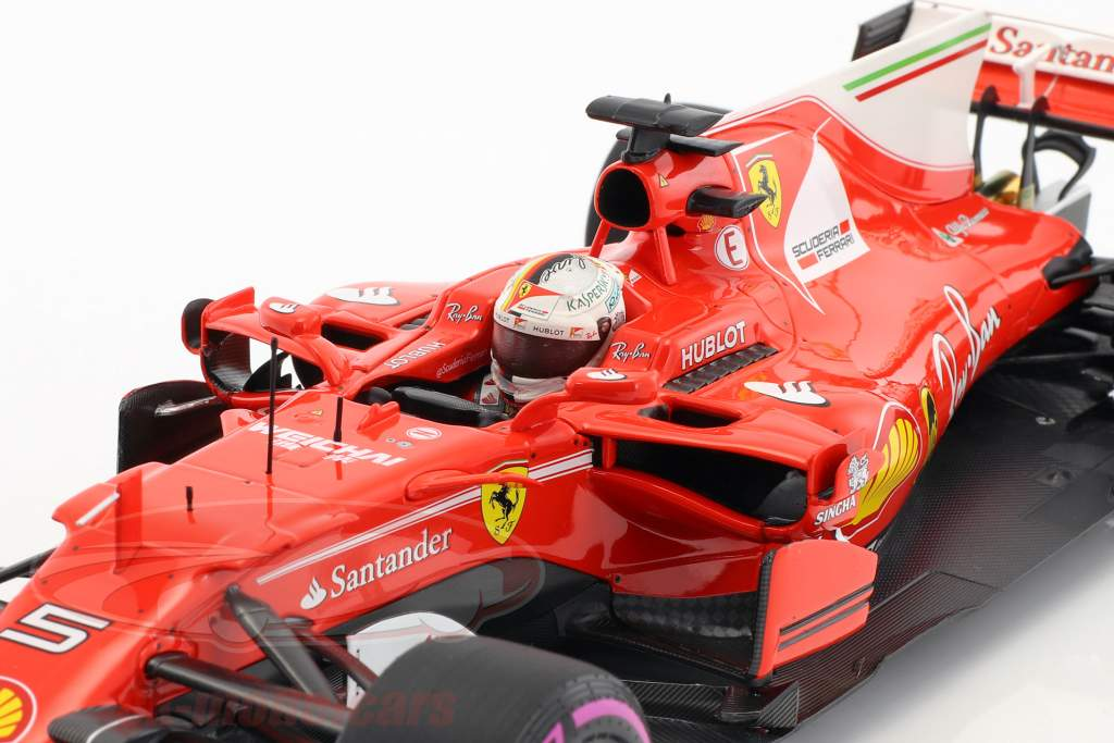 Sebastian Vettel Ferrari SF70H #5 ganador Australia GP fórmula 1 2017 1:18 BBR