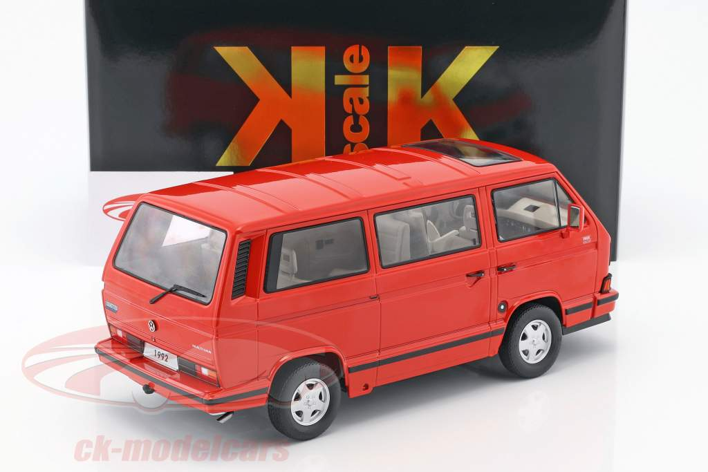 Volkswagen VW Bulli T3 Multivan Last Edition 1992 red 1:18 KK-Scale
