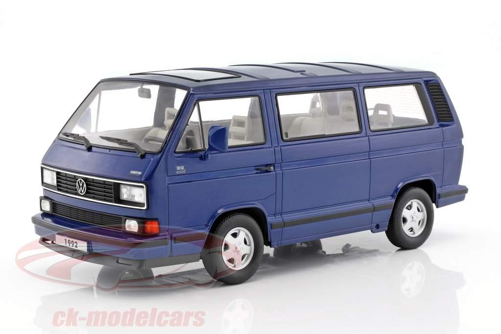 Volkswagen VW Bulli T3 Multivan Last Edition 1992 blue metallic 1:18 KK-Scale