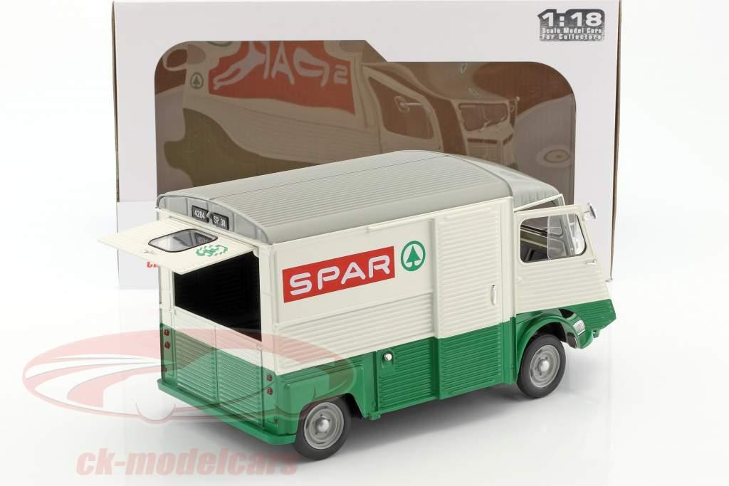 Citroen Type HY Spar Bouwjaar 1969 groen / wit / rood 1:18 Solido