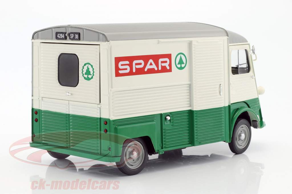 Citroen Type HY Spar Opførselsår 1969 grøn / hvid / rød 1:18 Solido