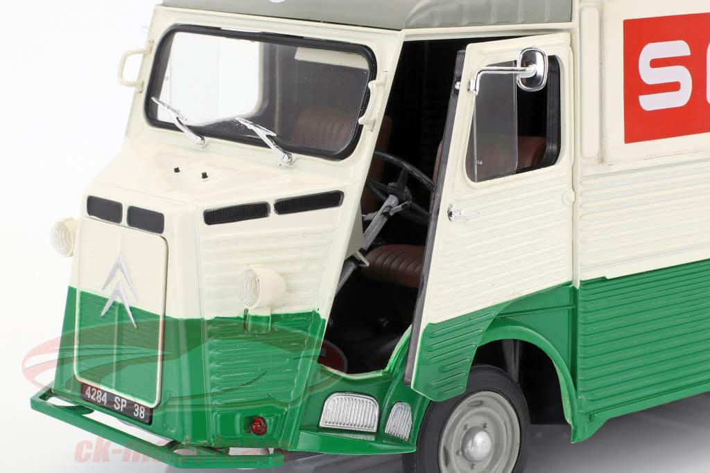 Citroen Type HY Spar Baujahr 1969 grün / weiß / rot 1:18 Solido
