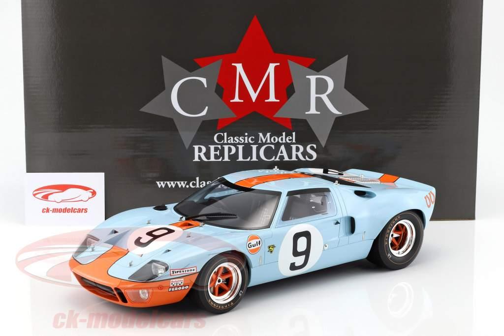 Ford GT 40 MK I Gulf #9 Vinder 24h LeMans 1968 Rodriguez, Bianchi 1:12 CMR