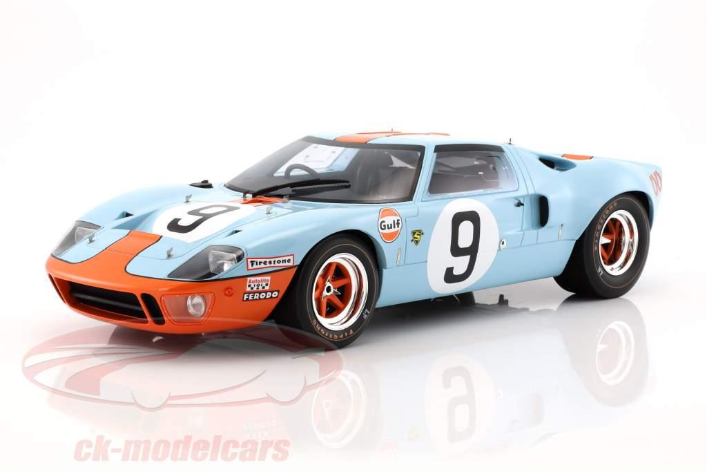 Ford GT 40 MK I Gulf #9 ganador 24h LeMans 1968 Rodriguez, Bianchi 1:12 CMR