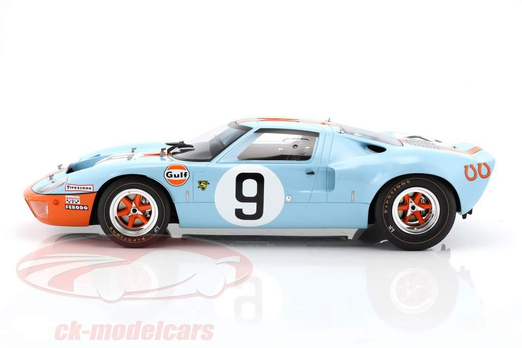 Ford GT 40 MK I Gulf #9 vincitore 24h LeMans 1968 Rodriguez, Bianchi 1:12 CMR