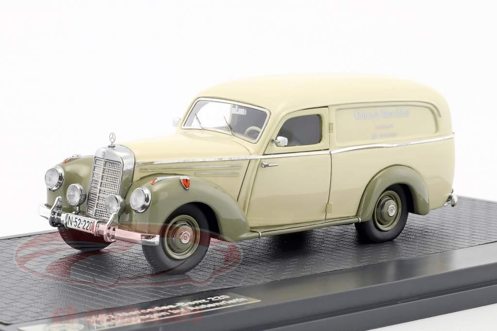Mercedes-Benz 220 van by Autenrieth year 1952 beige / gray green 1:43 Matrix