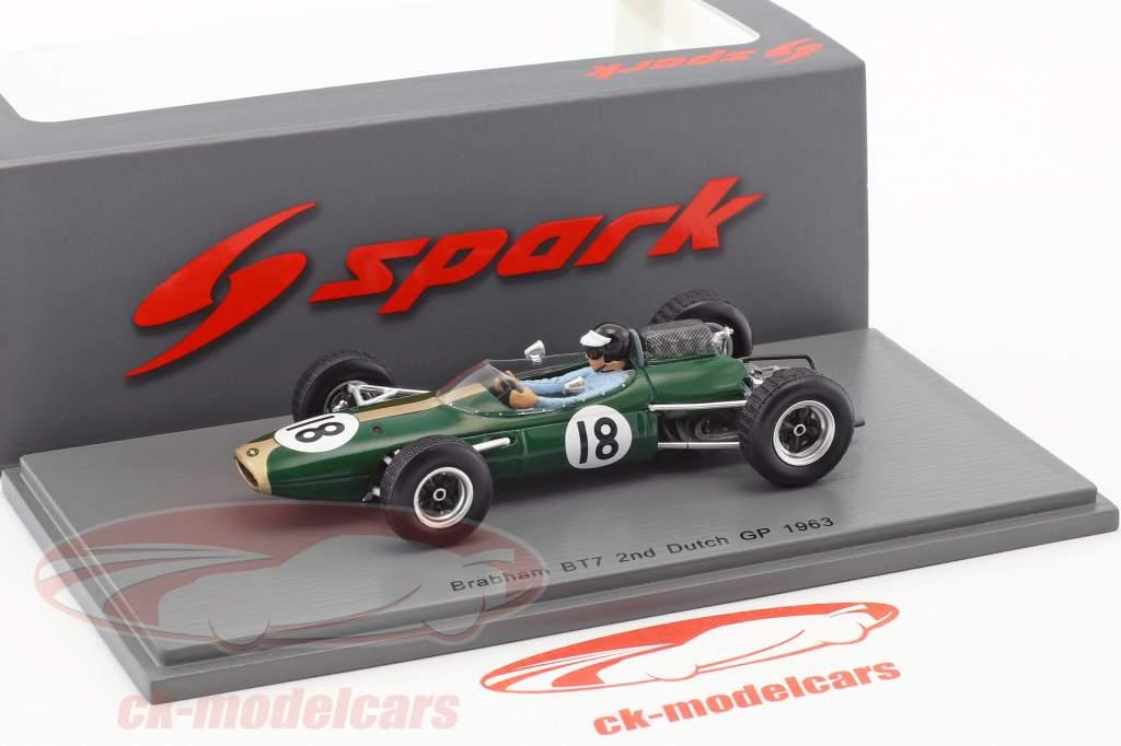 Dan Gurney Brabham BT7 #18 2nd Dutch GP formula 1 1963 1:43 Spark