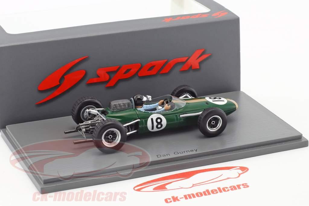 Dan Gurney Brabham BT7 #18 2e Nederlands GP formule 1 1963 1:43 Spark
