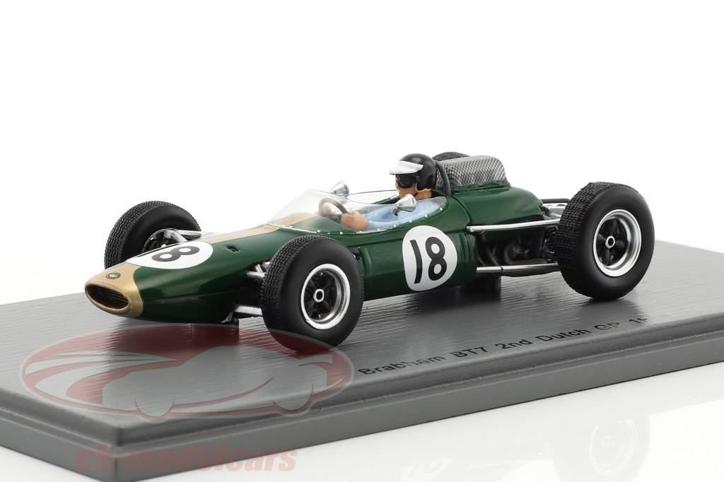 Dan Gurney Brabham BT7 #18 2º holandês GP fórmula 1 1963 1:43 Spark