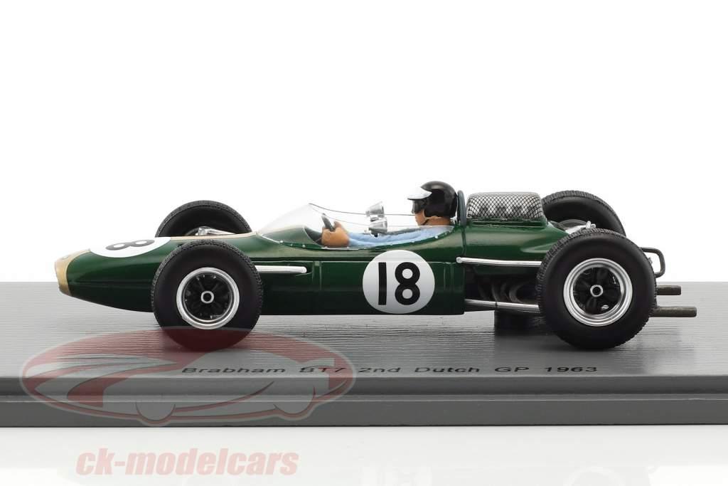Dan Gurney Brabham BT7 #18 segundo holandés GP fórmula 1 1963 1:43 Spark