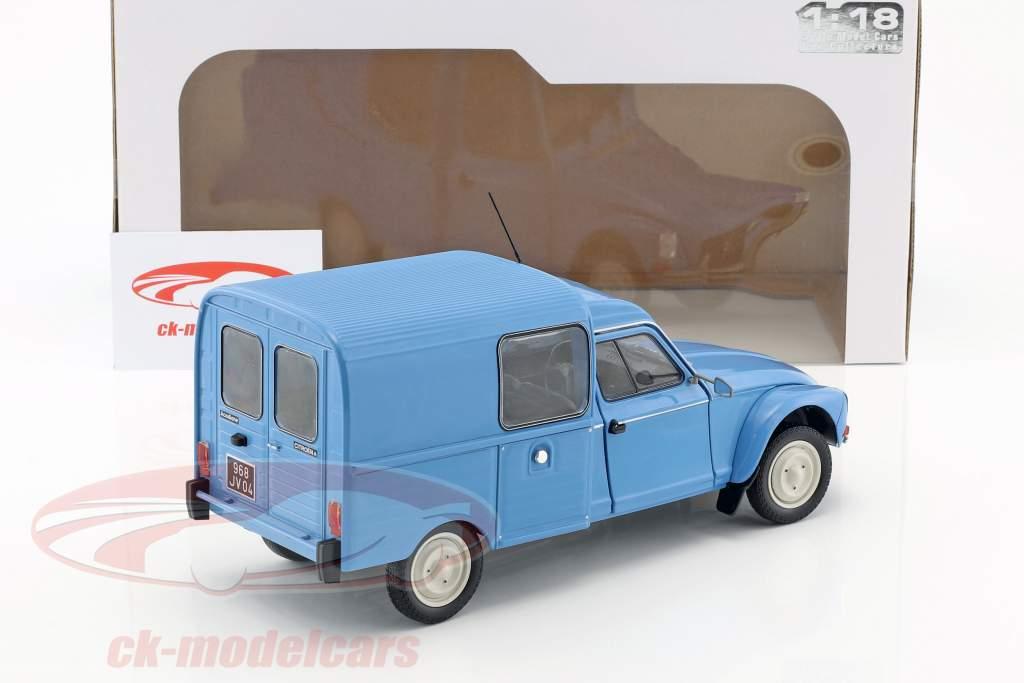 Citroen Acadiane Bouwjaar 1984 blauw 1:18 Solido