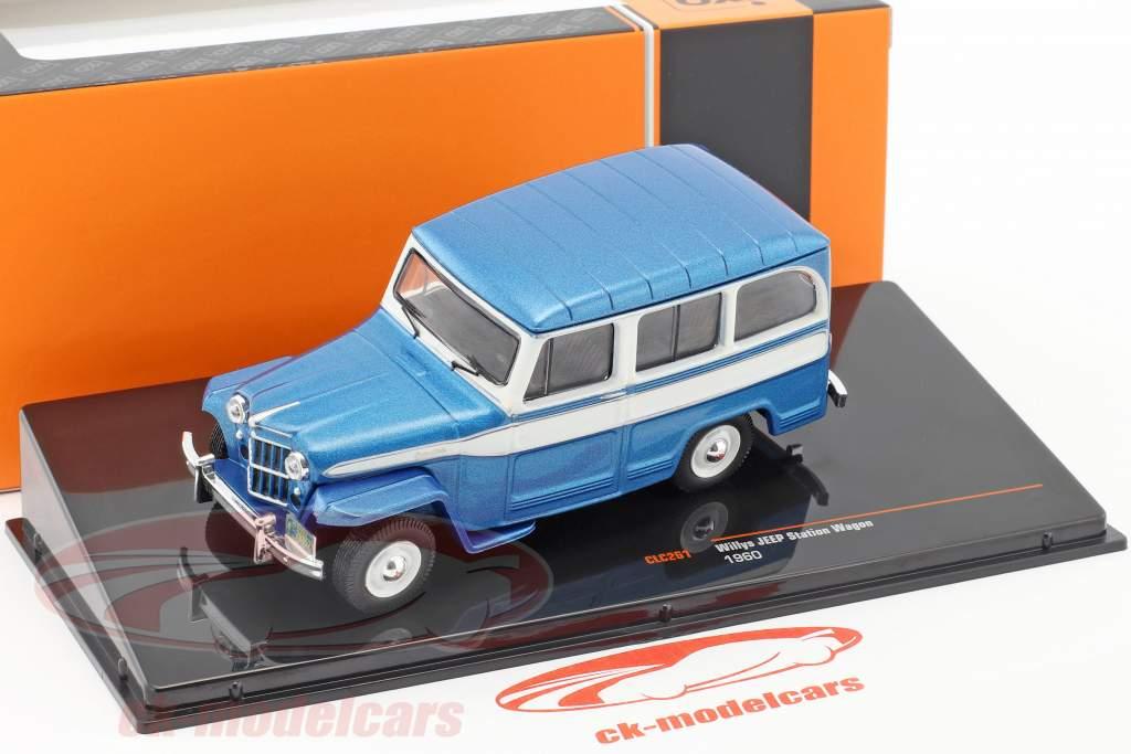 Willys Jeep Station Wagon Baujahr 1960 blau / weiß 1:43 Ixo