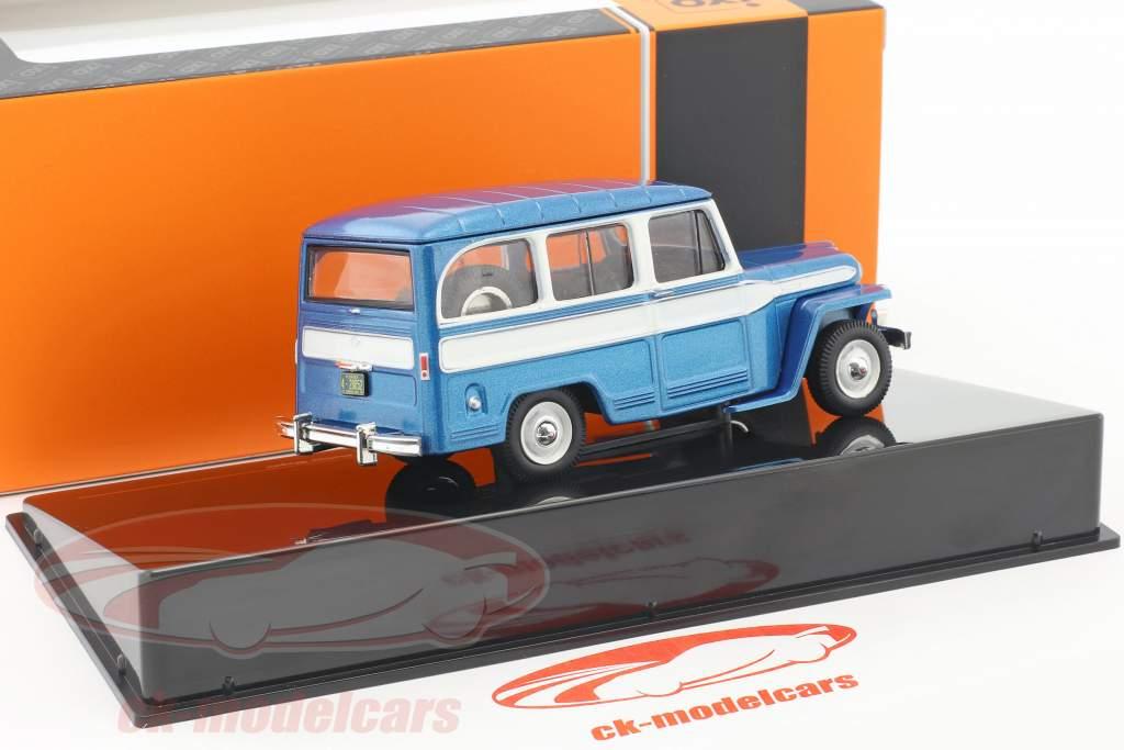 Willys Jeep Station Wagon année de construction 1960 bleu / blanc 1:43 Ixo