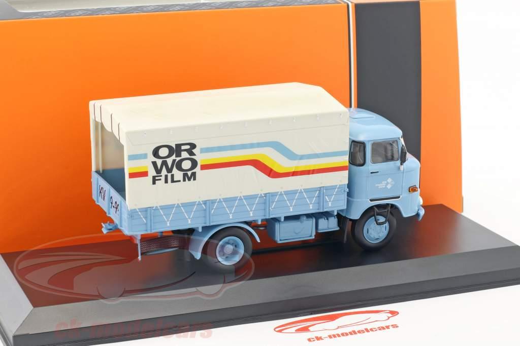 IFA W50 L ORWO Film année de construction 1973 bleu clair 1:43 Ixo