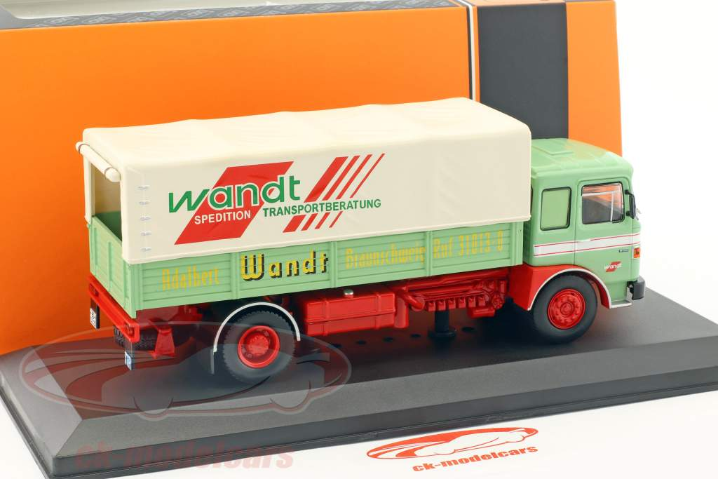 MAN Büssing Wandt Spedition anno di costruzione 1975 verde / rosso 1:43 Ixo