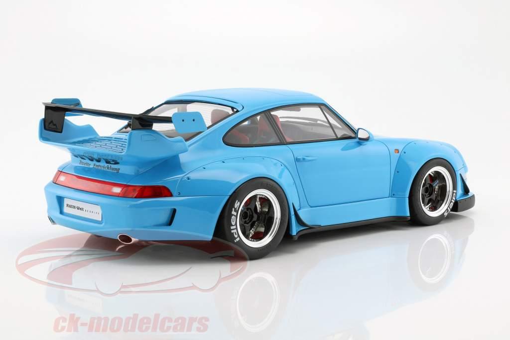 Porsche 911 (993) RWB bleu clair 1:12 GT-Spirit