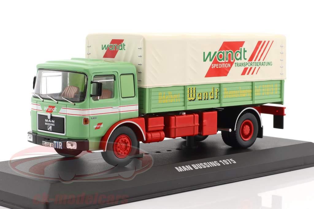 MAN Büssing Wandt Spedition année de construction 1975 vert / rouge 1:43 Ixo