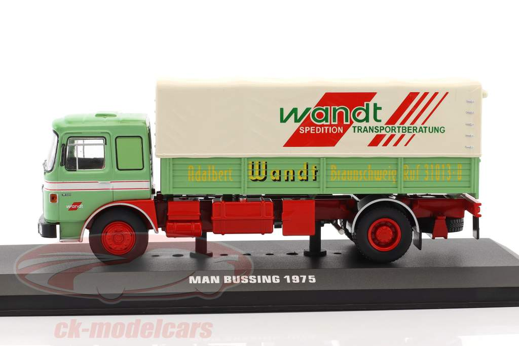 MAN Büssing Wandt Spedition ano de construção 1975 verde / vermelho 1:43 Ixo