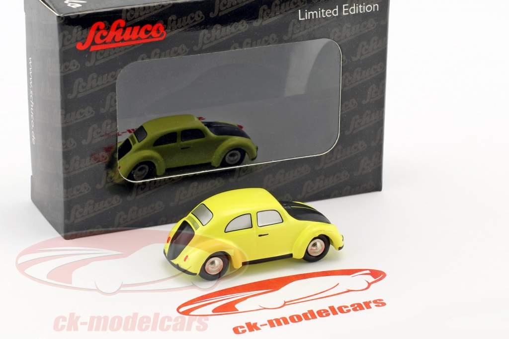 Volkswagen VW Käfer gelb / schwarz 1:90 Schuco Piccolo