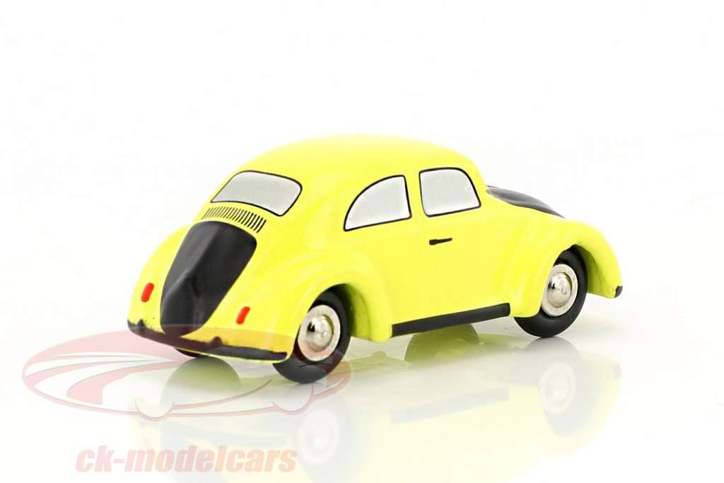 Volkswagen VW Beetle yellow / black 1:90 Schuco Piccolo
