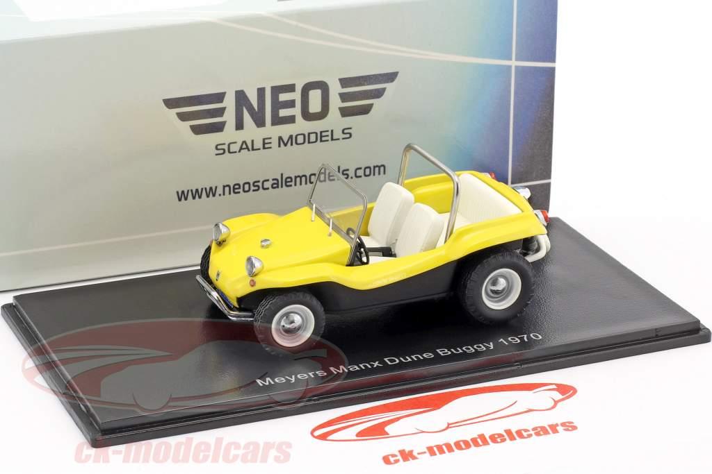 Volkswagen VW Dune Buggy Meyers Manx Baujahr 1970 gelb 1:43 Neo