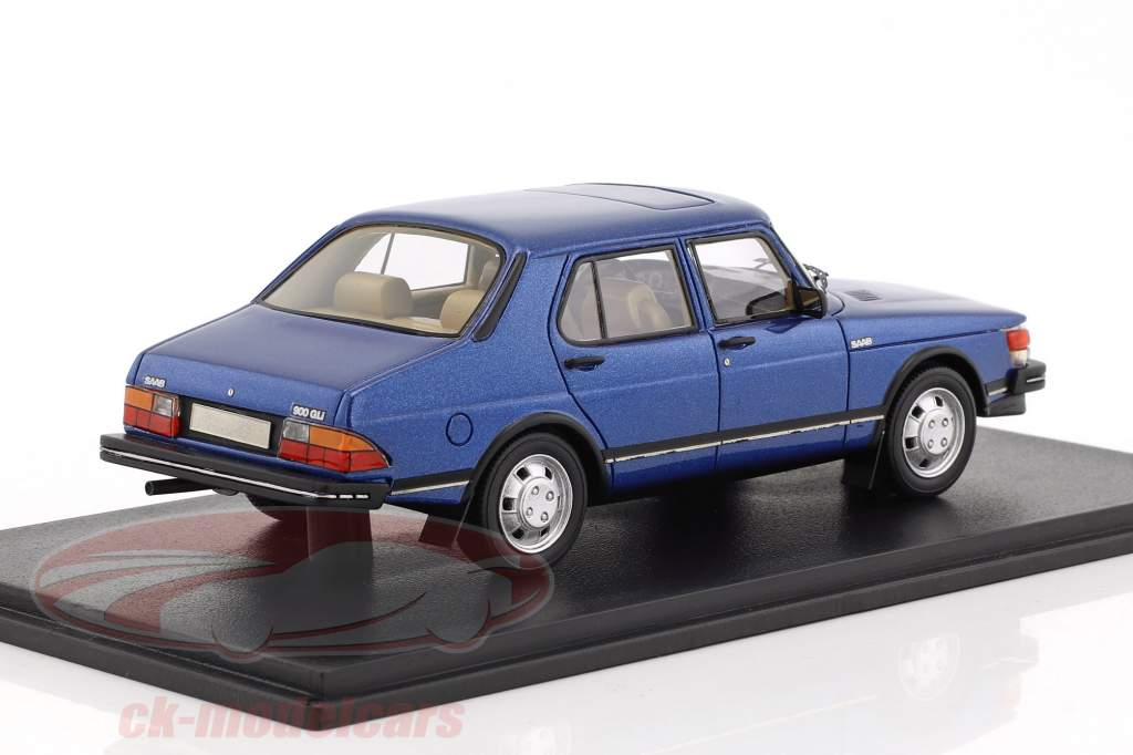 Saab 900 GLi year 1981 blue metallic 1:43 Neo