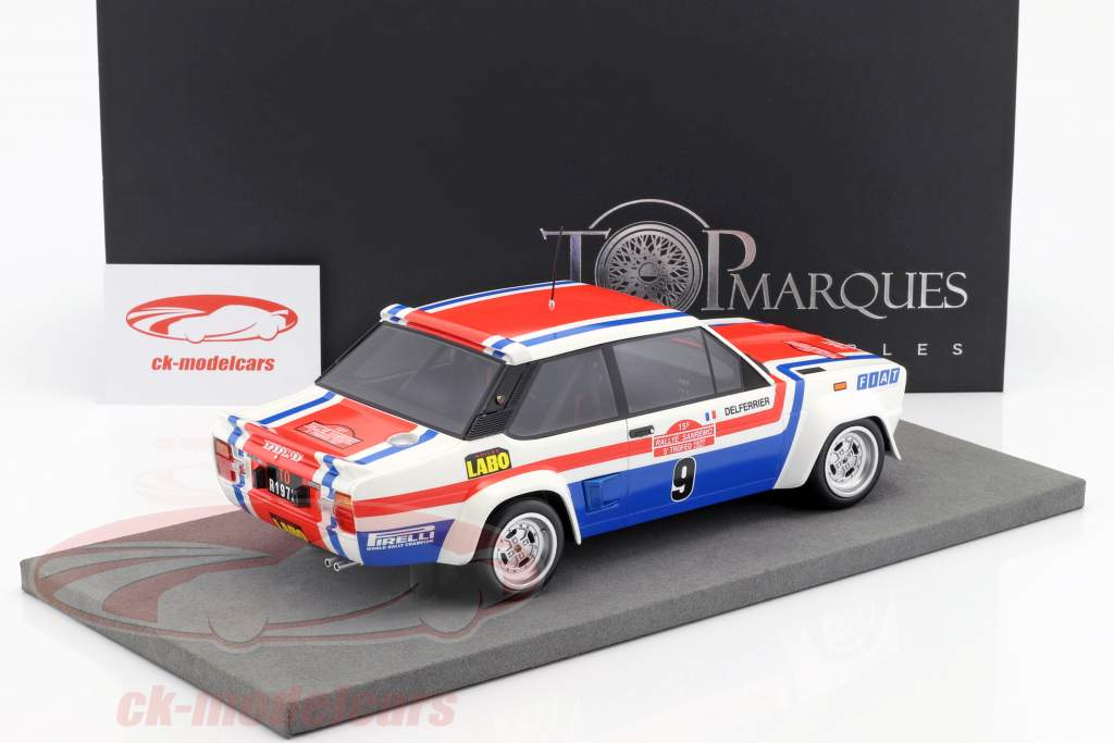 Fiat 131 Abarth #9 gagnant Rallye San Remo 1977 Andruet, Delferrier 1:18 TopMarques