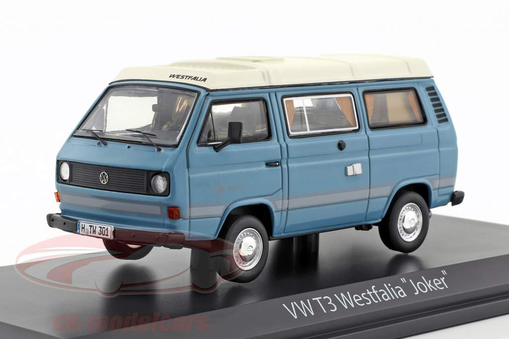 Volkswagen VW T3a Joker camper blue / white 1:43 Schuco
