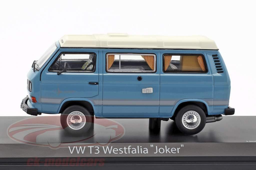 Volkswagen VW T3a Joker camper blu / bianco 1:43 Schuco