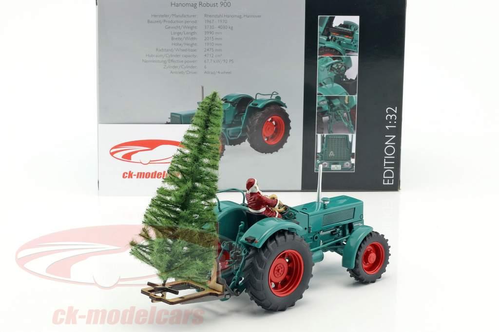 Hanomag Robust 900 trattore con Babbo Natale e albero verde 1:32 Schuco
